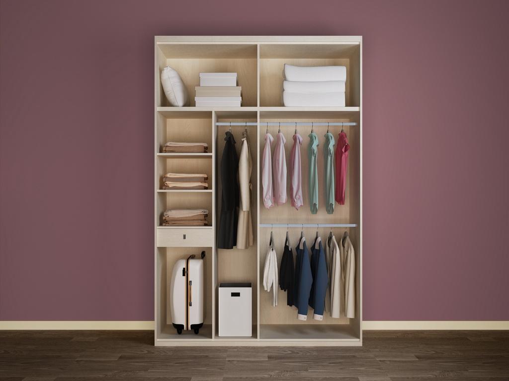 两门衣柜内部结构
